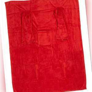 Rote Kuscheldecke ca. 135x172 cm mit Ärmeln Taschen TV Decke
