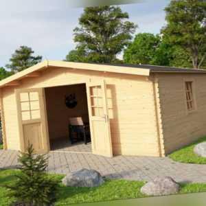 Lasita Maja Gartenhaus AKTION 15 / 40 mm Blockbohle / 480×480 cm / ohne Fußboden