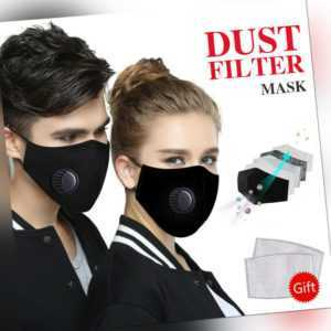 Mund-Nasen-Maske Behelfsmaske Stoffmaske Gesichtsmaske Waschbar Verstellbar