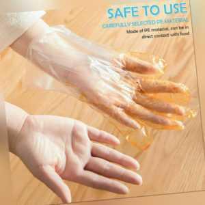 100 Stück Einmal Handschuhe PE Einweghandschuhe Polyethylen Küche Schutz Set DHL