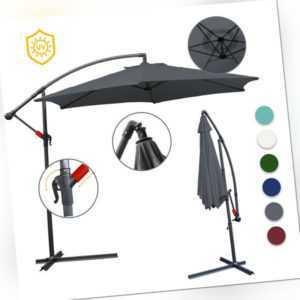 Sonnenschirm Ampelschirm UV30+ Gartenschirm Neigbar Schirm Ø350cm Ø300cm