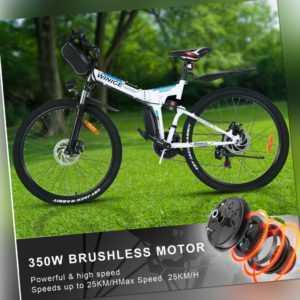Elektrofahrrad 26 Zoll E-Bike Faltrad 21-Gäng 250W/36V Pedelec Citybike Weiß DHL