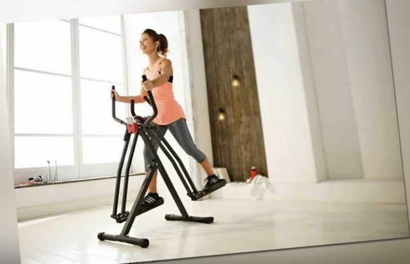 Crosstrainer Air-Walker Heimtrainer Training Fitness LC-Display 100 kg schwarz