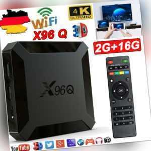 2+16G X96Q Android 10.0 4K HD Smart TV Box WIFI Home Film Media Player Allwinner