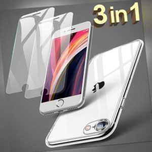 iPhone 8 7 6 SE 2020 Plus Hülle Kamera Schutz Case +2x Panzerfolie Schutzglas 9H