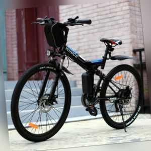 Klapprad Elektrofahrrad 26Zoll Erwachsene Elektrisches Fahrrad Mountainbike 250W