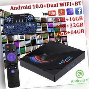 H96 MAX Android 10.0 6K Smart TV BOX Tastatur 5G WLAN BT Allwinner HD Home Filme