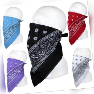 Bandana Paisley Kopftuch Halstuch Nase Mund Maske Tuch Biker 100% Baumwolle