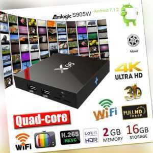 4K X96 Smart Android 7.1 TV Box S905W QuadCore 2,4G WiFi Media 2+16GB/1+8GB J7S3