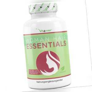 Woman Hair Essential - Haar Vitamine für Haarwachstum mit Biotin, Zink, Selen