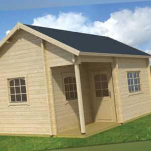 70mm Ferienhaus 410x560 cm Tahiti  Blockhaus Gerätehaus Holzhaus Holz Gartenhaus