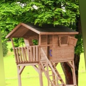Ante Kinderspielhaus Barney KDI Spielhaus Kinderhaus Spielanlage 240x197x290 cm