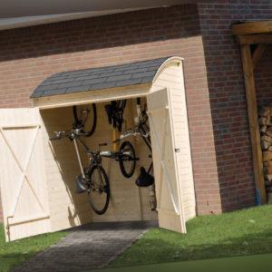 Weka Fahrrad- und Mehrzweckbox, natur 160 x 134 cm