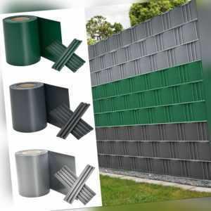 PVC Sichtschutz Streifen Doppelstabmatten Zaun Folie Rolle Zaunblende Juskys®