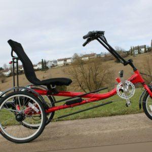 Liegedreirad Sesseldreirad Elektro Dreirad für Erwachsene mit Elektroantrieb