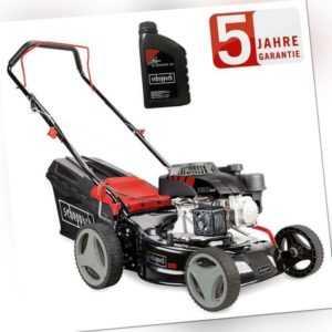 Scheppach Benzin Rasenmäher RM420 (3,4PS) 3in1 42cm mit Komfortgriff und 0,6l Öl