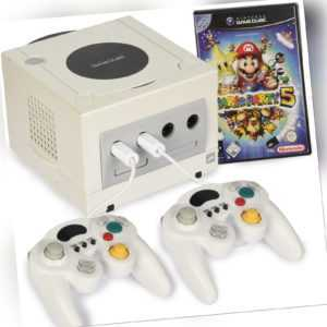 Nintendo Gamecube Konsole Weiss Mario Party 5 2x Controller
