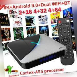 8K A95X F3 AIR Android 9.0 Smart TV Box S905X3 HD Media Player 2.4G/5G WiFi W9Y6