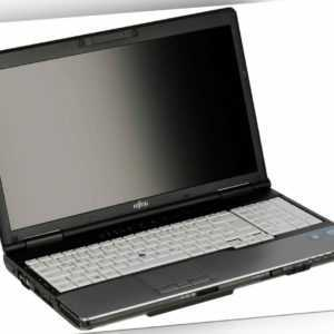 "Fujitsu Notebook E752 i3 2X2,40 GHz DVD-RW 15.6"" Zoll 320 GB HDD 8GB RAM Win 10"