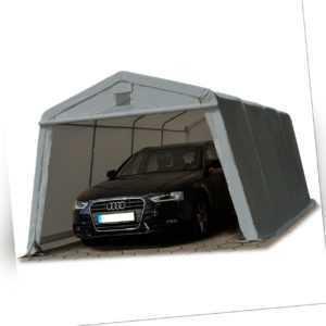Zeltgarage Weidezelt Lagerzelt 3,3x6,2m mobiler Unterstand 15,84 m² PVC grau