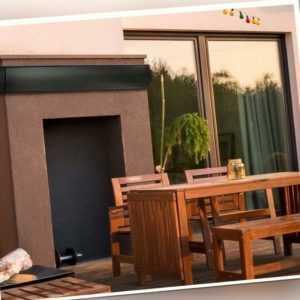 Designer Heizstrahler Infrarotheizer Dunkelstrahler Wandmontage 129,5 cm Garten