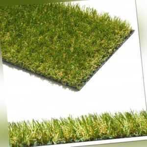 Kunstrasen Rasenteppich für außen Garten Balkon Terrasse meterware Intens Verde