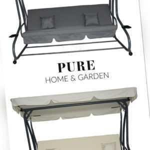 4 Sitzer XL Hollywoodschaukel mit Bettfunktion Askim Garten Schaukel Gartenmöbel