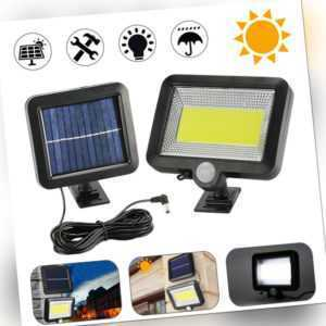 100LED Solarleuchte Solarlampe  Solarstrahler mit Bewegungsmelder Außen Licht