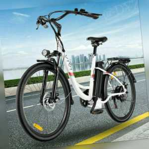 "Elektrofahrrad E-Bike 26"" Damen/Mann City Efahrrad 250W Motor Shimano Pedelec DE"