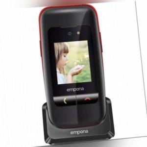 Emporia ONE V200 - Schwarz/Rot Großtastenhandy Klapphandy ohne Vertrag