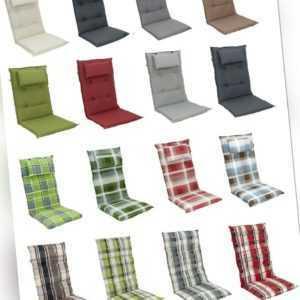 Doppler Luxus Gartenmöbel Auflagen für Hochlehner Kissen Sitzkissen Gartenstuhl