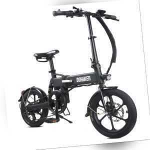 "DOHIKER 16"" klappbar Elektrofahrrad 36V E-Bike Elektrofahrräder 25km/h Citybike"