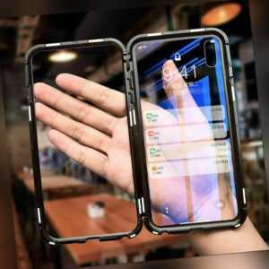 Samsung Galaxy S8 S9 S10 Note 8/9 Magnetic Metal Clear Case...