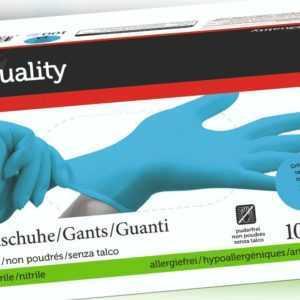 Einweghandschuhe Einmalhandschuhe Latexhandschuhe Blau Große M