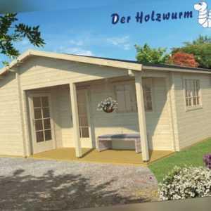 70 mm Ferienhaus ca. 700x817 cm Blockhütte Holzhaus Gartenhaus Holzhütte Holz