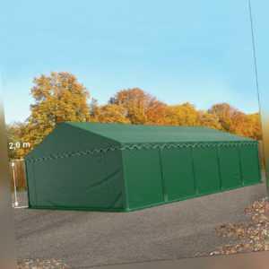 Lagerzelt 5x10m Weidezelt Zelthalle Unterstand PVC Zelt wasserdicht grün NEU