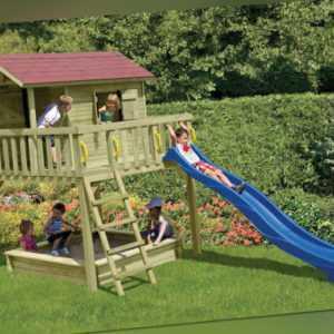 Kinderspielhaus Classic Maxi Kinderhaus Spielanlage Spielhaus Haus Holz Neu kdi