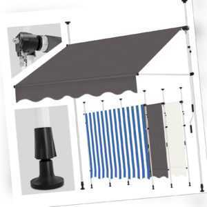 Balkonmarkise Gelenkarm Markise Klemmmarkise Sonnenmarkise Balkon ohne Bohren