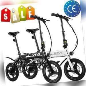 Elektrofahrrad Klapprad Ebike Faltrad 250W Fahrrad E-Bike mit 7,5 Ah Batterie EU