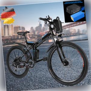"""Elektrofahrrad Faltbares E-Bike Elektrisches Herausnehmbare 26"""" 250W Motor 36V"""