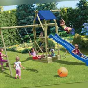 Kinderspielanlage Patrick Kinderspielgerät Spielanlage Schaukel Holz Spielturm