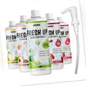Weider Fresh UP Concentrate 1 Liter Konzentrat Mineraldrink + Gratis Dosierpumpe