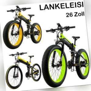 LANKELEISI 26 Zoll Falten Elektrofahrrad E-Bike Power Assist E-Mountainbike Neu
