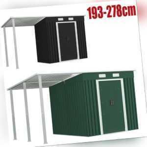 Geräteschuppen Erweitertes Dach Anthrazit Stahl Gerätehaus Gartenhäuser Carport