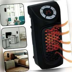Digitaler Heizlüfter Steckdose 350W (230V) Mini Heizung Elektro Heizgerät Timer