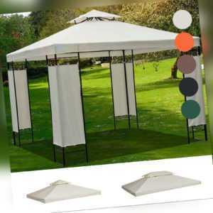 Outsunny Ersatzdach für Metall-Gartenpavillon Partyzelt Pavillon Gartenzelt