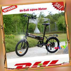 """Elektrofahrrad Mountainbike Ebike 20"""" Klapprad City E-fahrrad 250W-Motor Pedelec"""