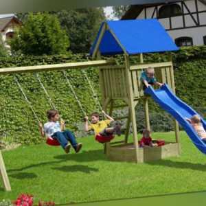 Kinderspielanlage Junior Kinderspielgerät Spielanlage Schaukel Holz Spielturm