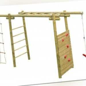 Palmako Kinderspielanlage Marta Klettergerüst Spielgeräte Kinder 120x360 cm