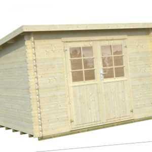 28 mm Gartenhaus Mary 2 / Lyon 1 Gerätehaus Schuppen Blockhaus ca. 320 x 220 cm